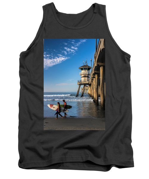 Tank Top featuring the photograph Surf's Up by Tammy Espino