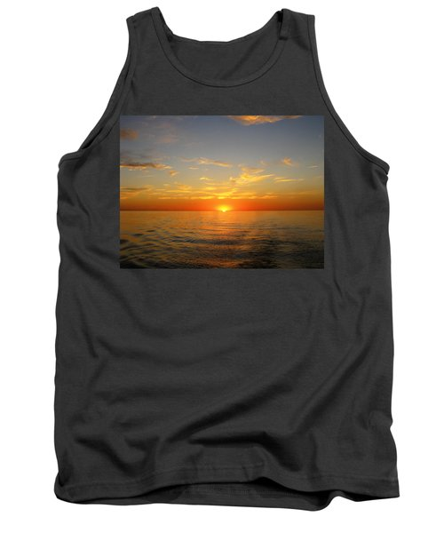 Surreal Sunrise At Sea Tank Top