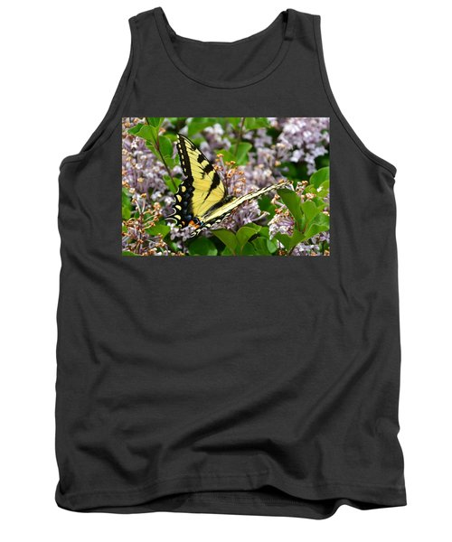 Swallowtail On Lilacs Tank Top