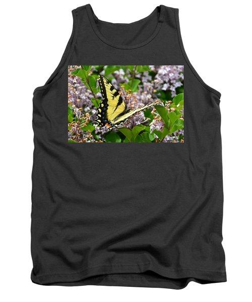 Swallowtail On Lilacs Tank Top