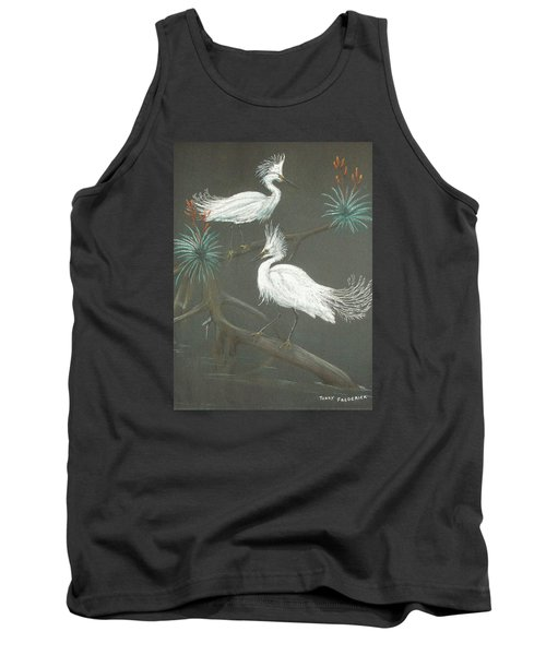 Tank Top featuring the pastel Swampbirds by Terry Frederick