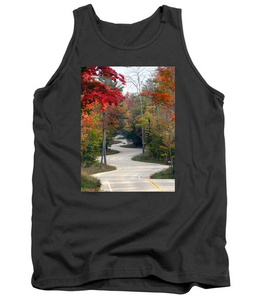 Swervy Road At North Port Tank Top by David T Wilkinson
