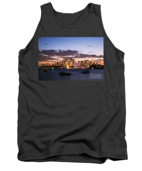 Sydney Skyline At Dusk Australia Tank Top by Matteo Colombo