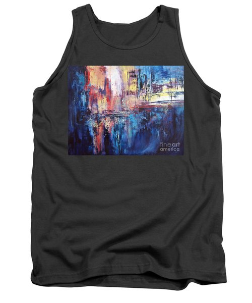 Symphony In Blue Tank Top by Valerie Travers