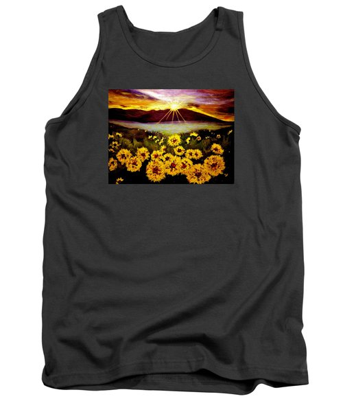 Tank Top featuring the painting Symphony Of The Sun.. by Cristina Mihailescu