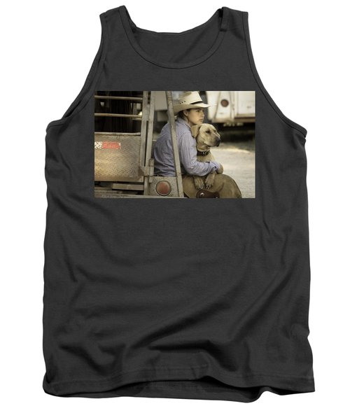Tank Top featuring the photograph Tailgate Friends by Steven Bateson