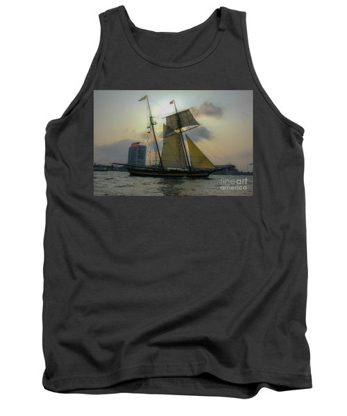 Tank Top featuring the photograph Tall Ship In Charleston by Dale Powell