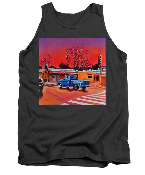 Taos Blue Truck At Dusk Tank Top by Art West