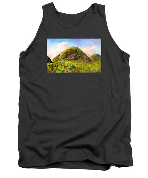 Tank Top featuring the painting Taro Garden Of Papua by Jason Sentuf
