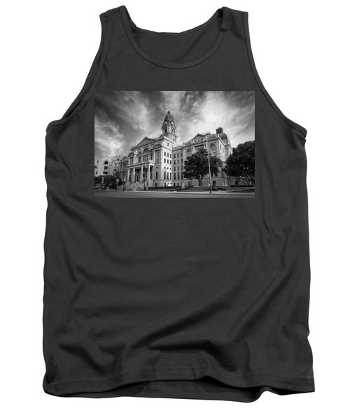 Tarrant County Courthouse Bw Tank Top