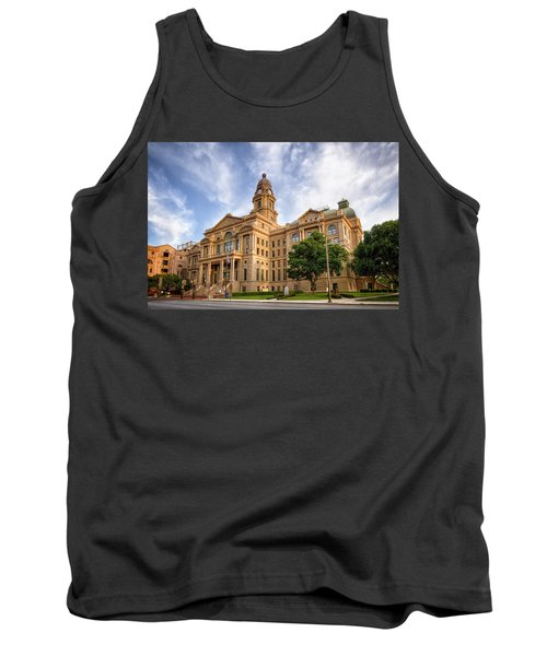 Tank Top featuring the photograph Tarrant County Courthouse II by Joan Carroll