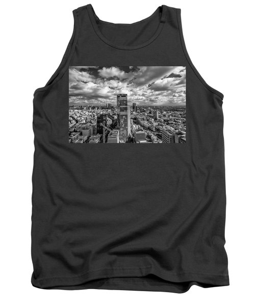 Tank Top featuring the photograph Tel Aviv High And Above by Ron Shoshani