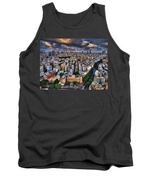 Tank Top featuring the photograph Tel Aviv Lookout by Ron Shoshani