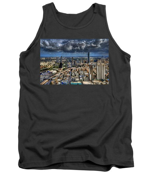 Tank Top featuring the photograph Tel Aviv Love by Ron Shoshani