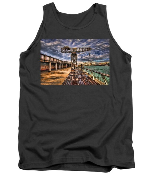 Tank Top featuring the photograph Tel Aviv Port At Winter Time by Ron Shoshani