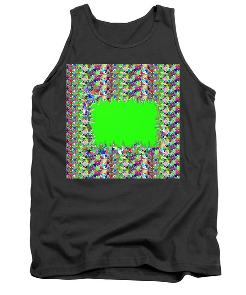 Template Art Star Sparkle And Empty Box To Add Your Image Or Text Tank Top by Navin Joshi