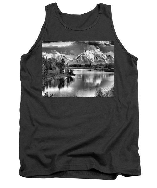Tetons In Black And White Tank Top