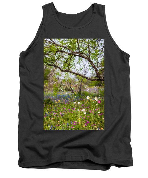 Texas Roadside Wildflowers 732 Tank Top by Melinda Ledsome