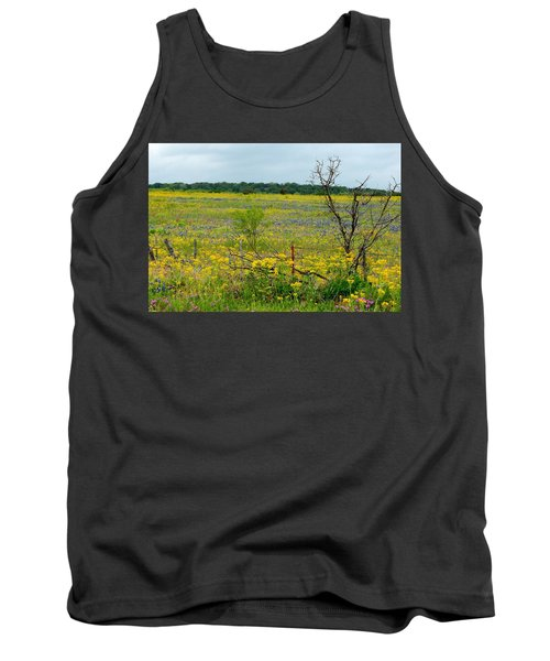 Texas Wildflowers And Mesquite Tree Tank Top