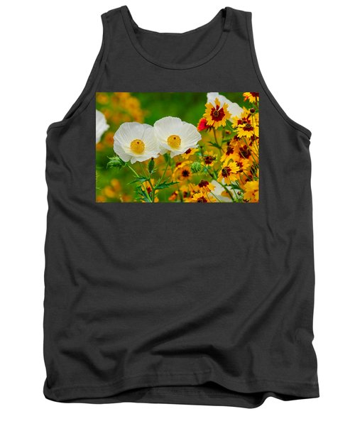 Texas Wildflowers Tank Top by Lynn Bauer