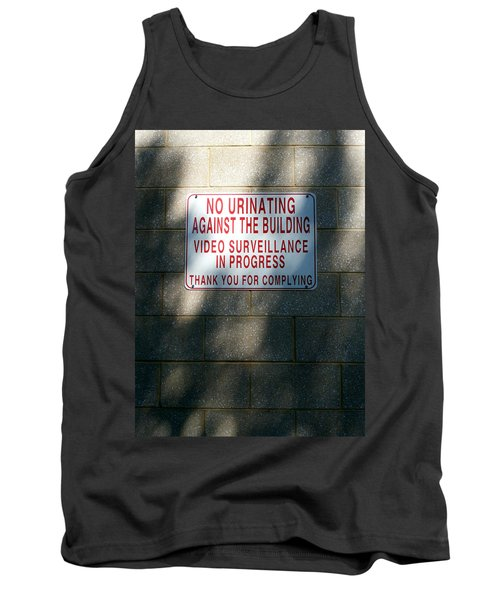 Thank You For Complying Tank Top by Lon Casler Bixby