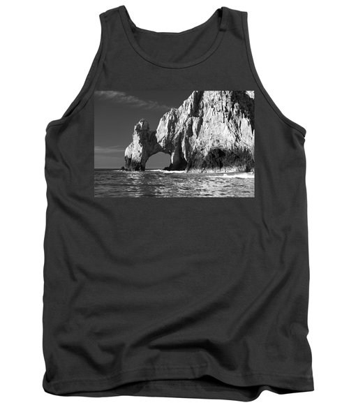 The Arch Cabo San Lucas In Black And White Tank Top