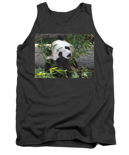 The Art Of Posing At Breakfast Tank Top by Lingfai Leung