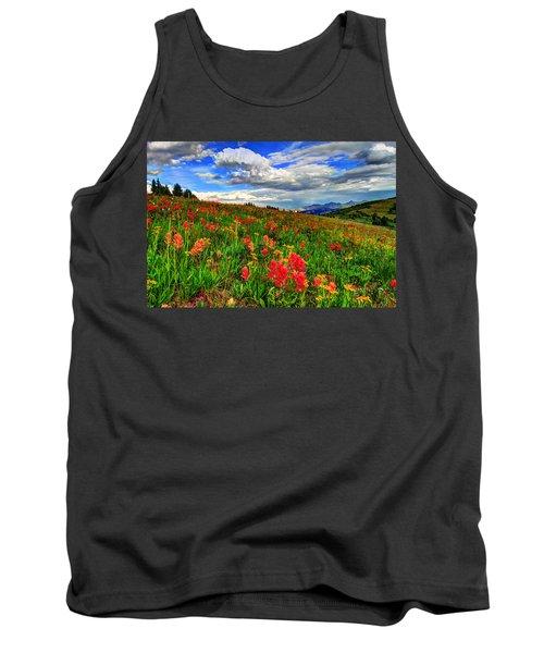 The Art Of Wildflowers Tank Top by Scott Mahon