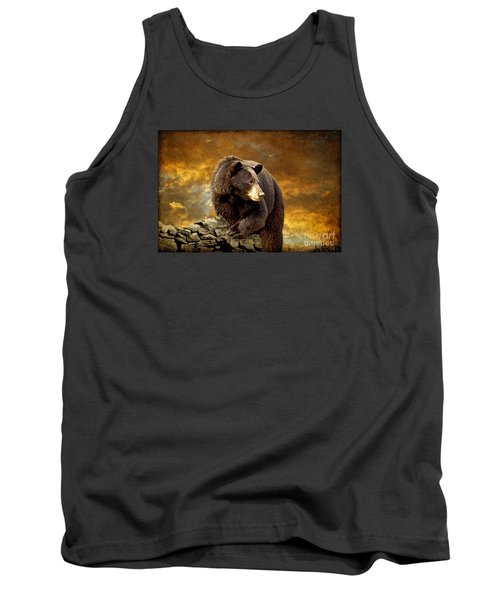 The Bear Went Over The Mountain Tank Top by Lois Bryan