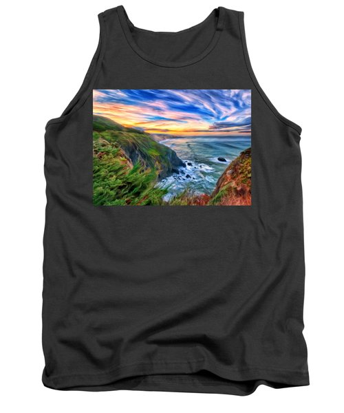Tank Top featuring the painting The Beauty Of Big Sur by Michael Pickett