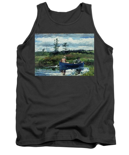 The Blue Boat Tank Top by Winslow Homer