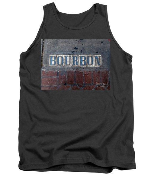 The Bourbon Street Sign Tank Top by Joseph Baril