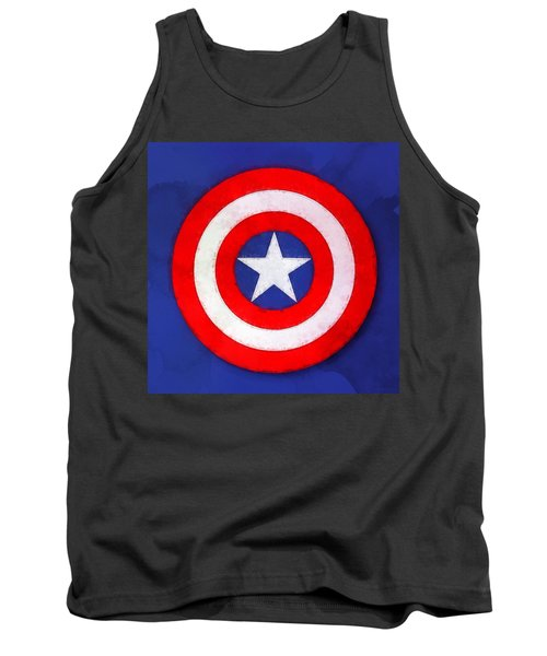 The Captain's Shield Tank Top by Sandy MacGowan