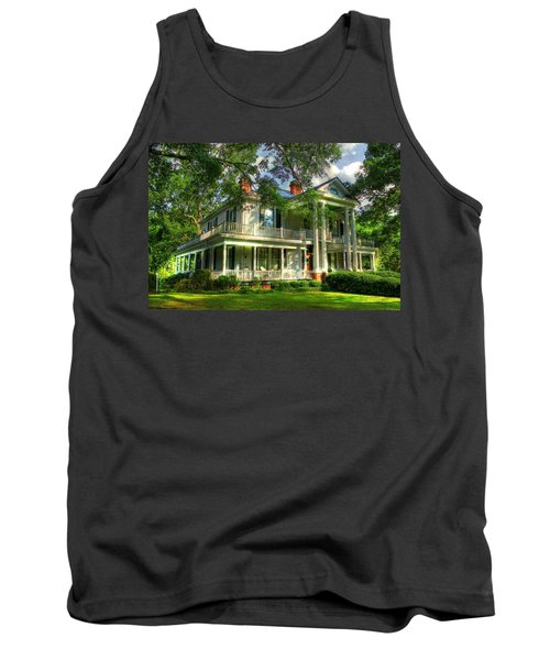 A Southern Bell The Carlton Home Art Southern Antebellum Art Tank Top by Reid Callaway