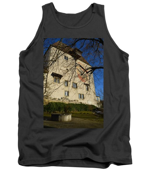 Tank Top featuring the photograph The Castle Greets A Sunny Day by Felicia Tica