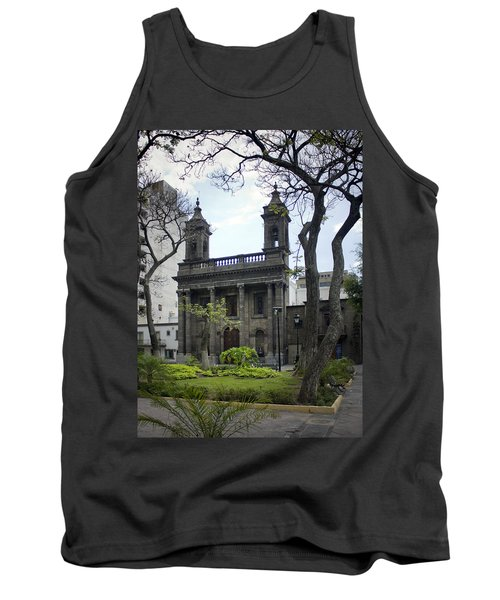 Tank Top featuring the photograph The Church Green by Lynn Palmer