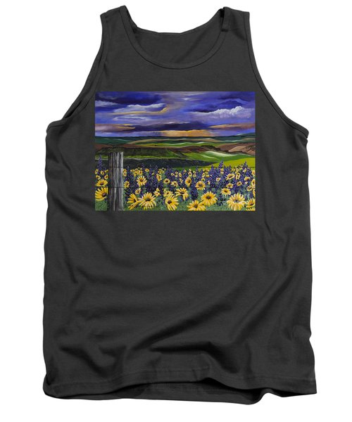 Tank Top featuring the painting The Colors Of The Plateau by Jennifer Lake