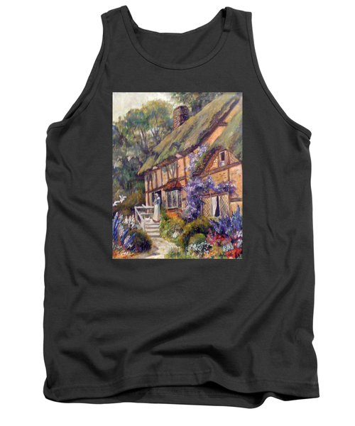 Tank Top featuring the painting The Cottage by Donna Tucker