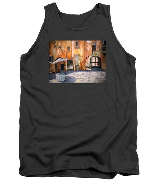 Tank Top featuring the painting The Courtyard by Alan Lakin