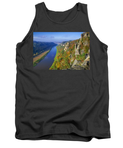 The Elbe Sandstone Mountains Along The Elbe River Tank Top