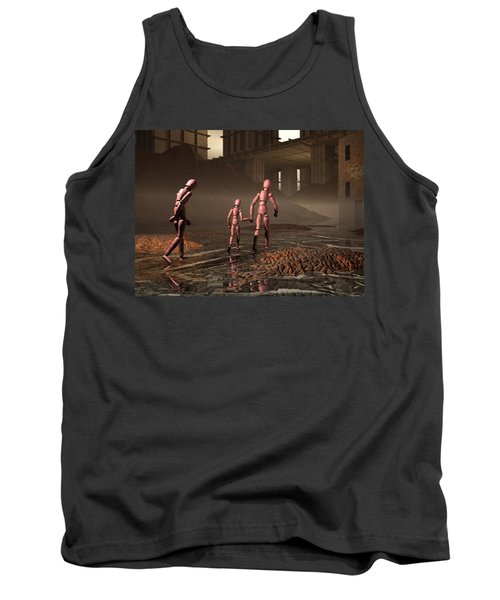 Tank Top featuring the digital art The Exiles Sojourn by John Alexander