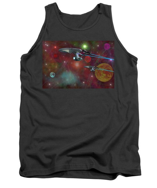 The Final Frontier Tank Top by Michael Rucker
