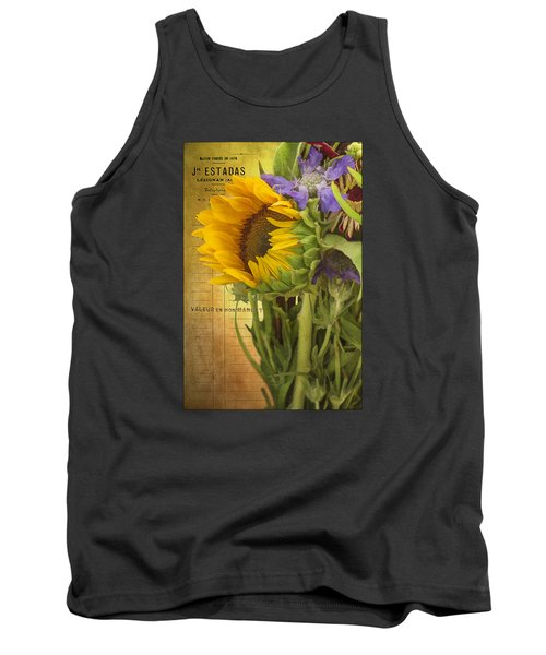 Tank Top featuring the photograph The Flower Market by Priscilla Burgers