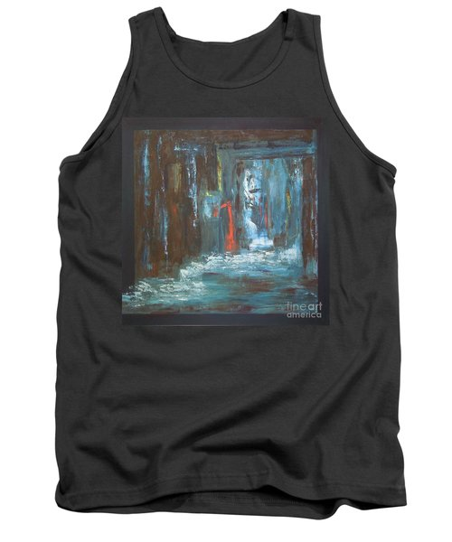 Tank Top featuring the painting The Free Passage by Mini Arora
