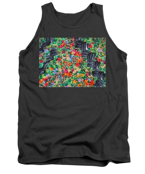 Tank Top featuring the painting The Garden Path by Michele Myers