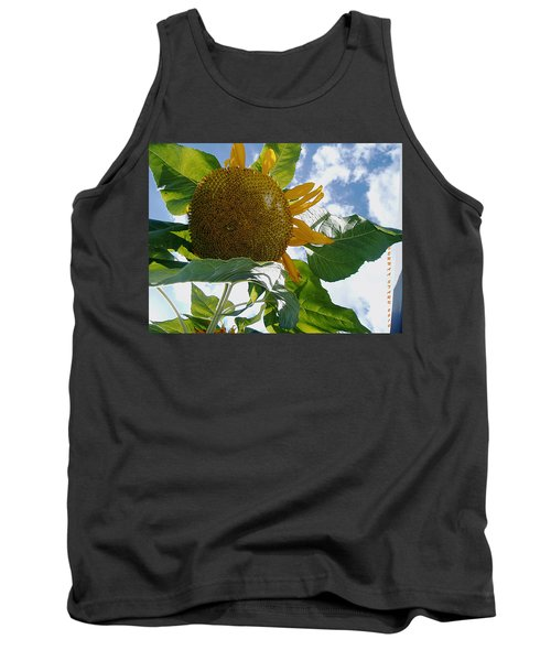 Tank Top featuring the photograph The Gigantic Sunflower by Verana Stark