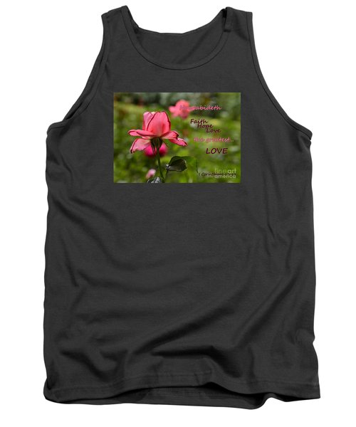 Tank Top featuring the photograph The Greatest Love by Larry Bishop
