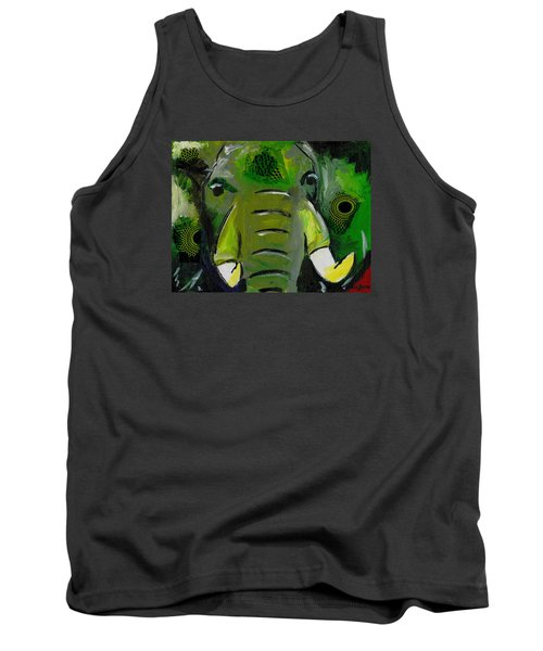 The Green Elephant In The Room Tank Top
