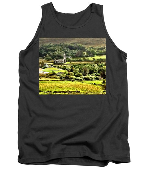 Tank Top featuring the photograph The Green Valley Of Poisoned Glen by Charlie and Norma Brock