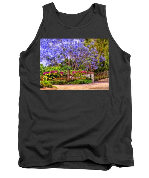 Tank Top featuring the painting The Jacaranda by Michael Pickett